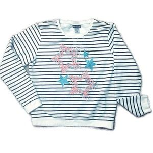 Joe Boxer Striped Graphic Sweatshirt